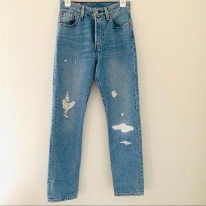 Levi's 501 high rise straight leg jeans